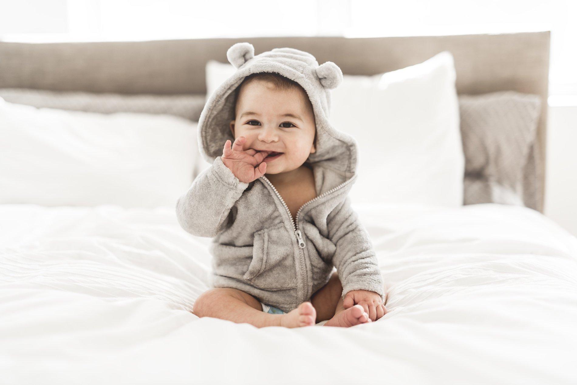 Baby wearing a jacket - Good Little Sleeperzzz